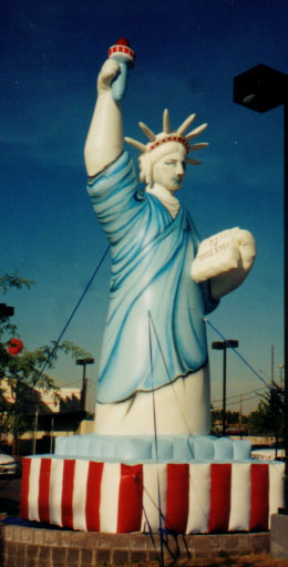 25 ft. Statue of Liberty advertising inflatable