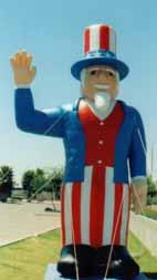 Uncle Sam advertising inflatable - patriotic balloons for sale and rent.
